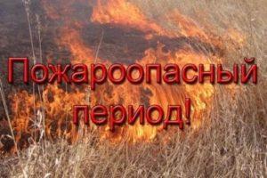 «Весна и лето» - пожароопасный период!