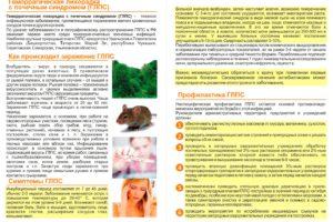 Геморрагическая лихорадка с почечным синдромом (ГЛПС) — тяжелое, смертельно опасное инфекционное заболевание! Будьте осторожны!