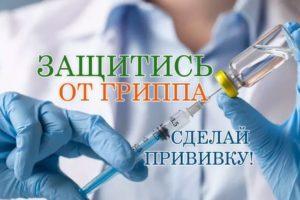 В г.Красноуфимске и Красноуфимском районе стартовала прививочная кампания против гриппа.