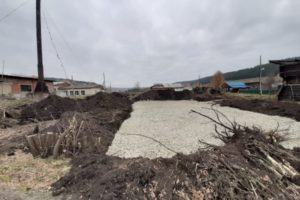 В п. Сарана в первую неделю октября начались работы по подготовке площадки для установки мобильного теплового пункта.