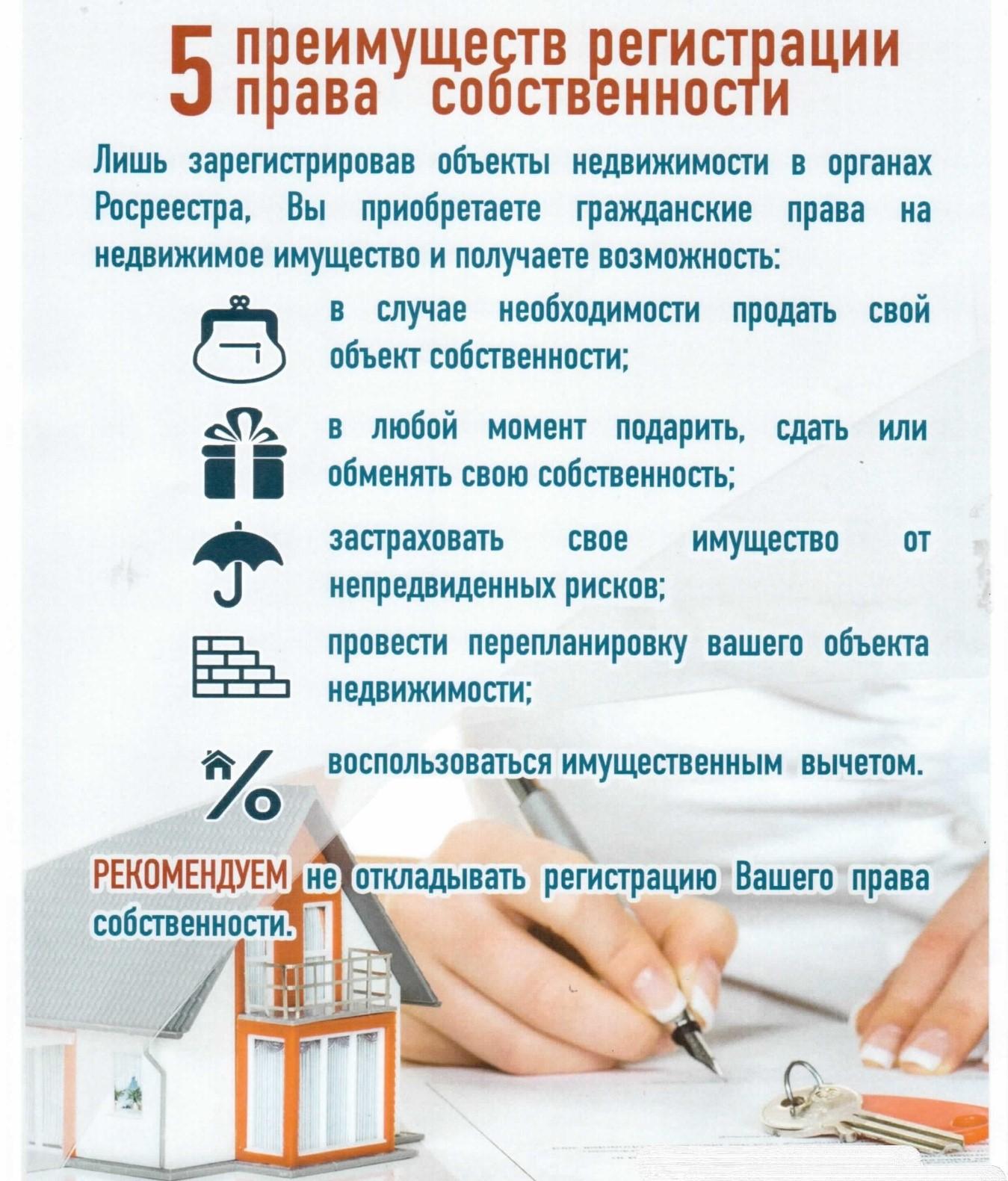 документы для регистрации недвижимости