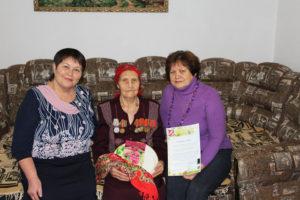 95-летие жительницы с Юва.