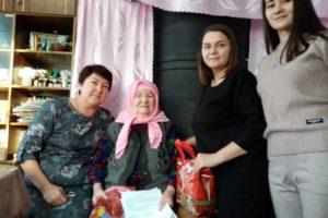 15 декабря самой пожилой женщине села Большой Турыш Нафиге Файскановой исполнилось 95 лет!