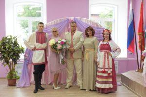 Поздравление Петра и Февронии на свадьбе в ЗАГСе Красноуфимского района.